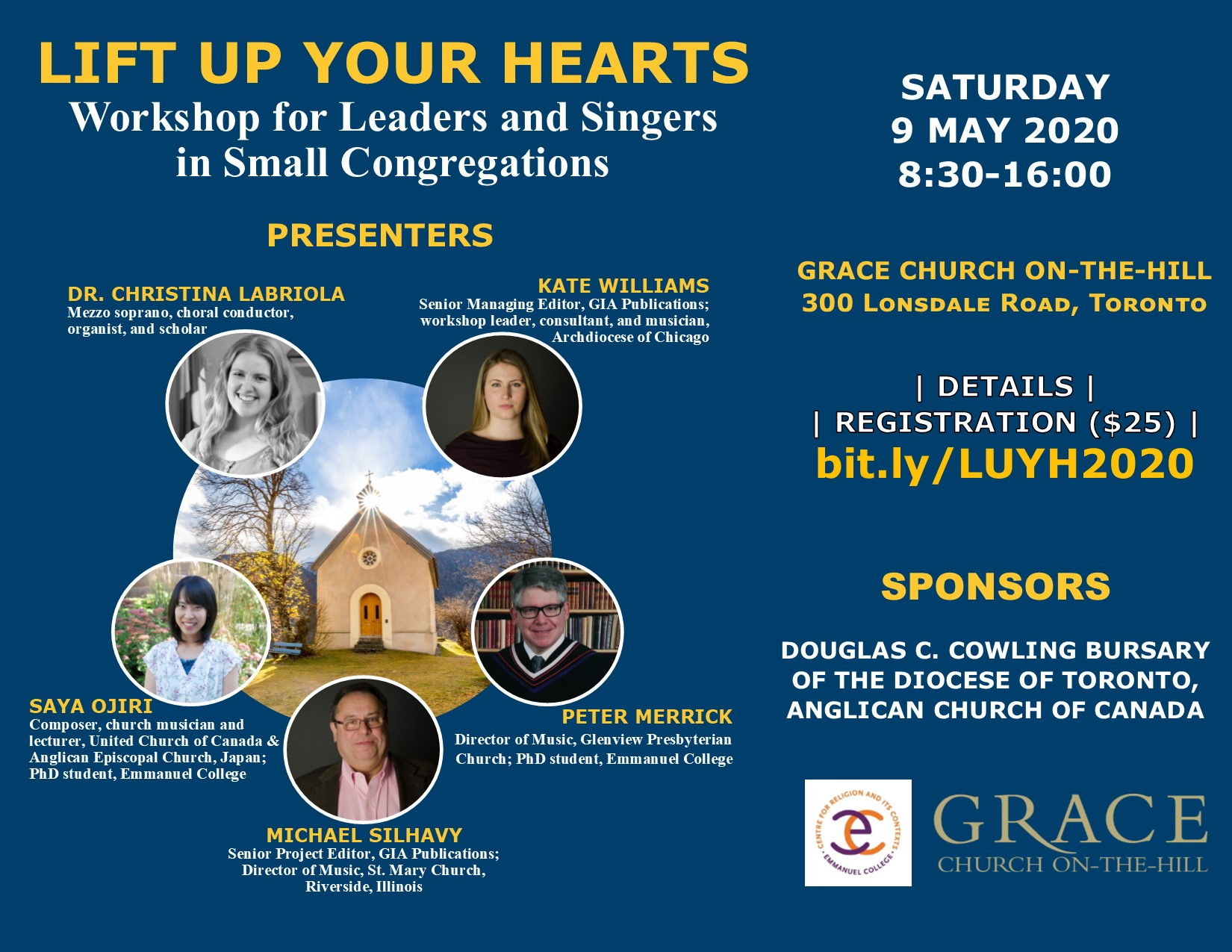 MAY 09   Lift up Your Hearts – Workshop of Leaders and Singers in Small Congregations